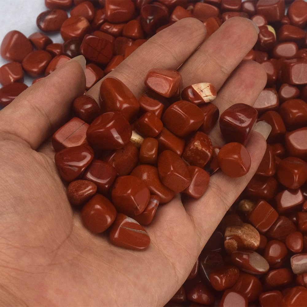 Natural Rock quartz stone beads polished tumbled stones wholesale