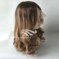 Alibaba fashional natural wave peruvian hair lace front wig in stock