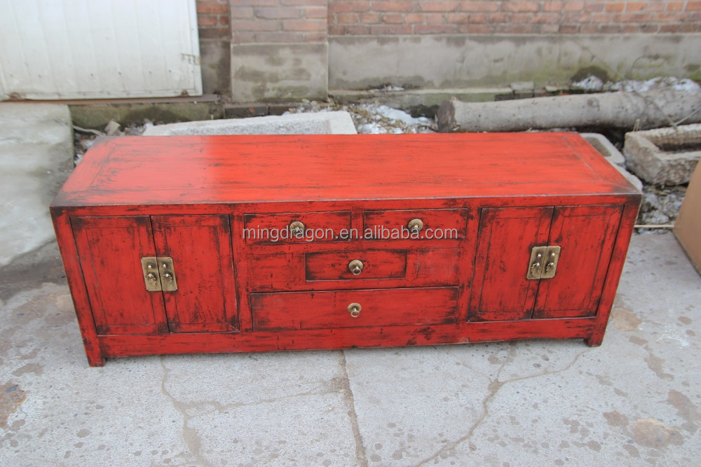 Living room TV cabinet chinese antique furniture