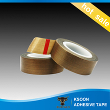 Heat Resistance PTFE Coated Fiber Glass Cloth Yellow Teflon Adhesive tape