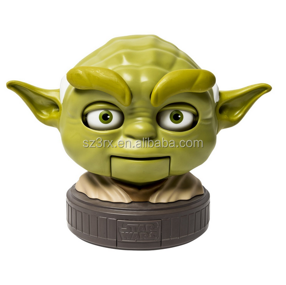 NEW Products 2016 Movie Character Talking Yoda action figure/OEM Make Popular Function Plastic Action Figure China Maker