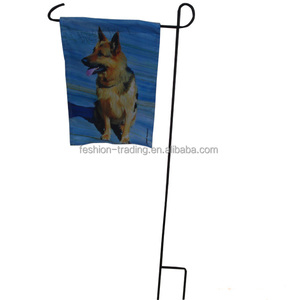 High quality custom 12*18 inches size garden flag with 48 inches metal pole stands for events