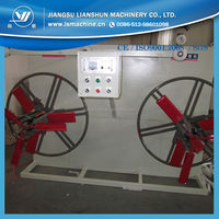 plastic tube twin disk coiling machine/plastic hose coiling machine/plastic pipe winder