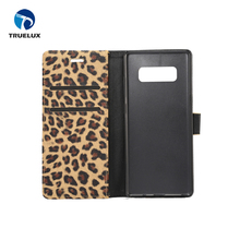 Alibaba Trade Assurance Supplier Leopard Pattern Leather Flip Wallet PU Case for Samsung Note8