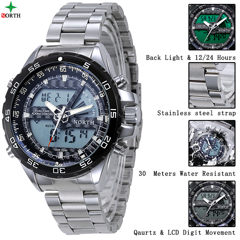 LED Quartz China Online Shopping Stainless Steel Case Back Water Proof Watch wholesale brand watch accept paypal