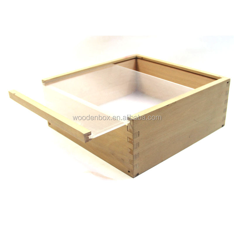 Hot Sale Jewelry Gift Wooden Display Box With Transparent Lid