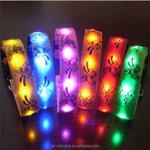 New Design Led Collar Adjust Led Nylon Pet Dog Cat Collar With Flashing Light
