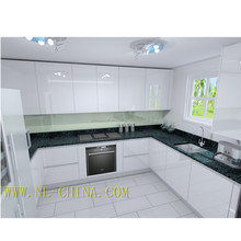 White high gloss ready made modular cheap china simple design modern kitchen cabinet