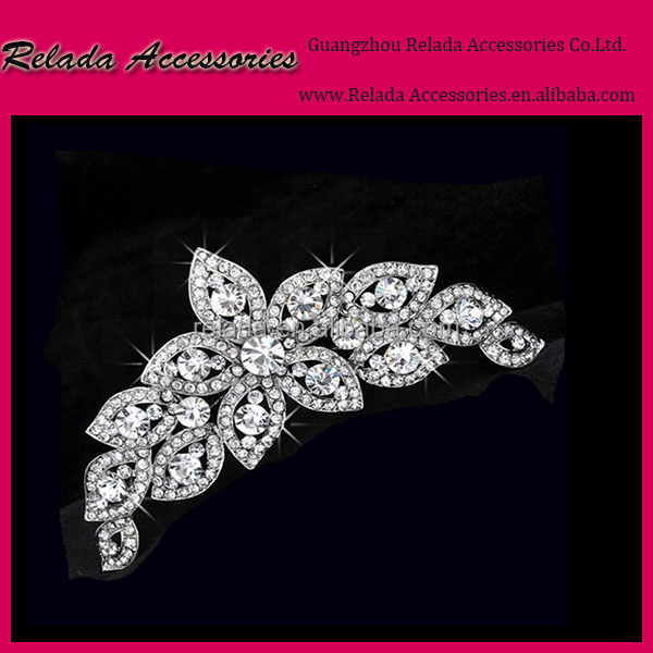 Korean Style Handmade Bride Hair comb Wedding Accessories Jewelry,Make Rhinestone hair comb for bridal hair jewelry