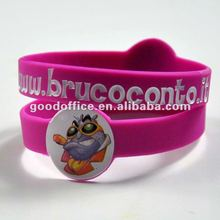 [promotion gift] custom design full color printing silicon wristband