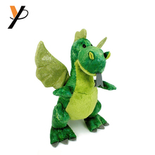Fondle admiringly plush chinese dragons