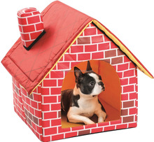 Portable Brick Motif Pet House For Cat and Dog