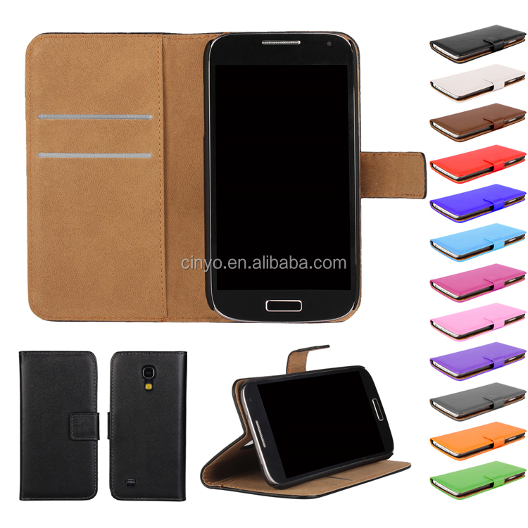 wallet leather cover case for samsung galaxy s4 mini i9190 with credit cards slots holder