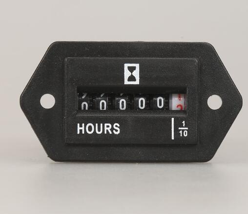 SYS-1 Hour meter counter mechanical display meter for motor or enigneer uses 6 Digits AC110-250V,DC10-80V