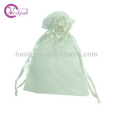personalized organza tote bag for jewelry