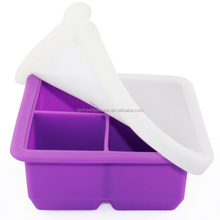 2016 Hot Sell Silicone Ice Tray With Cover