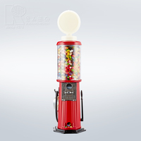 Kwang Hsieh 21Inch Red Metal Gas Pump Style Coin Operated Candy Gumball Machine