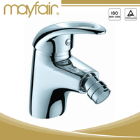Contemporary chrome plated basin bidet faucet