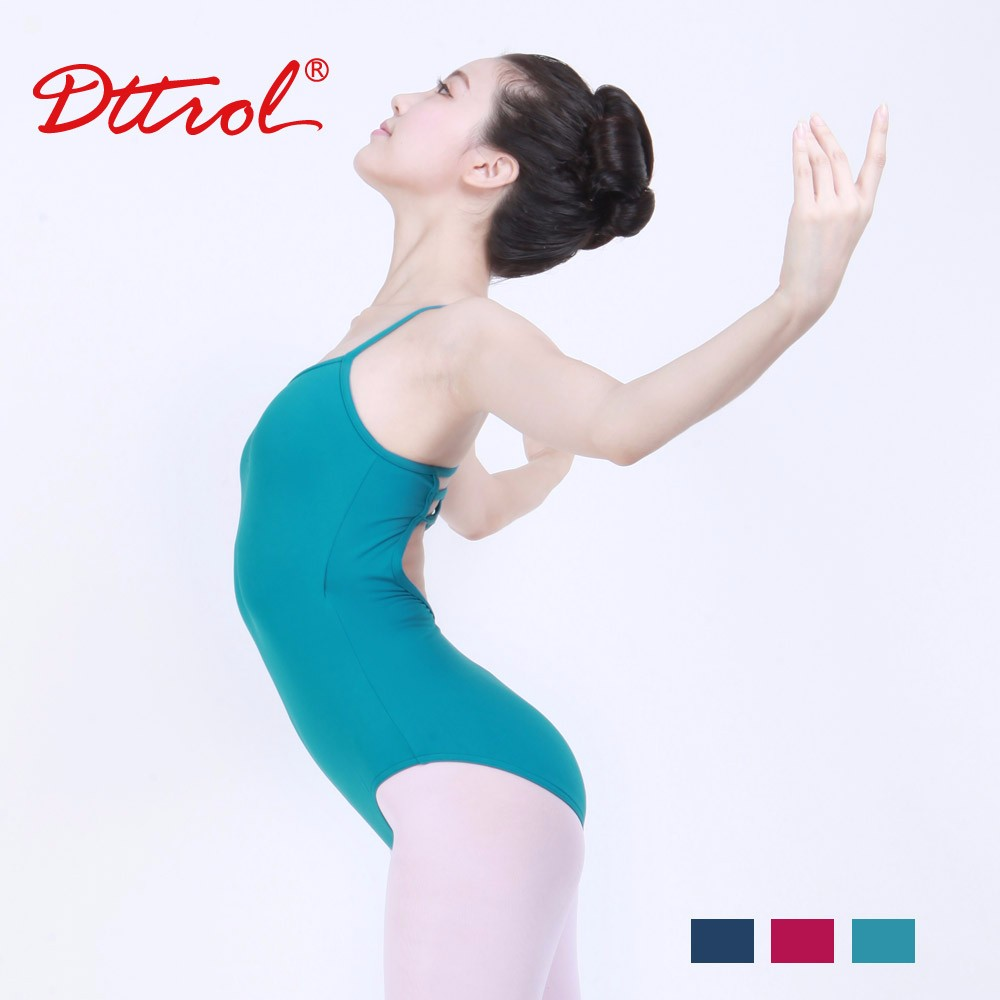 D031013 Dttrol Lycra Cross - back Sleeveless Camisole Leotard