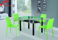 tempered glass extend dining table