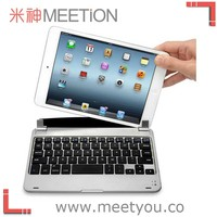 2014 Best aluminum design for ipad mini case with keyboard bluetooth
