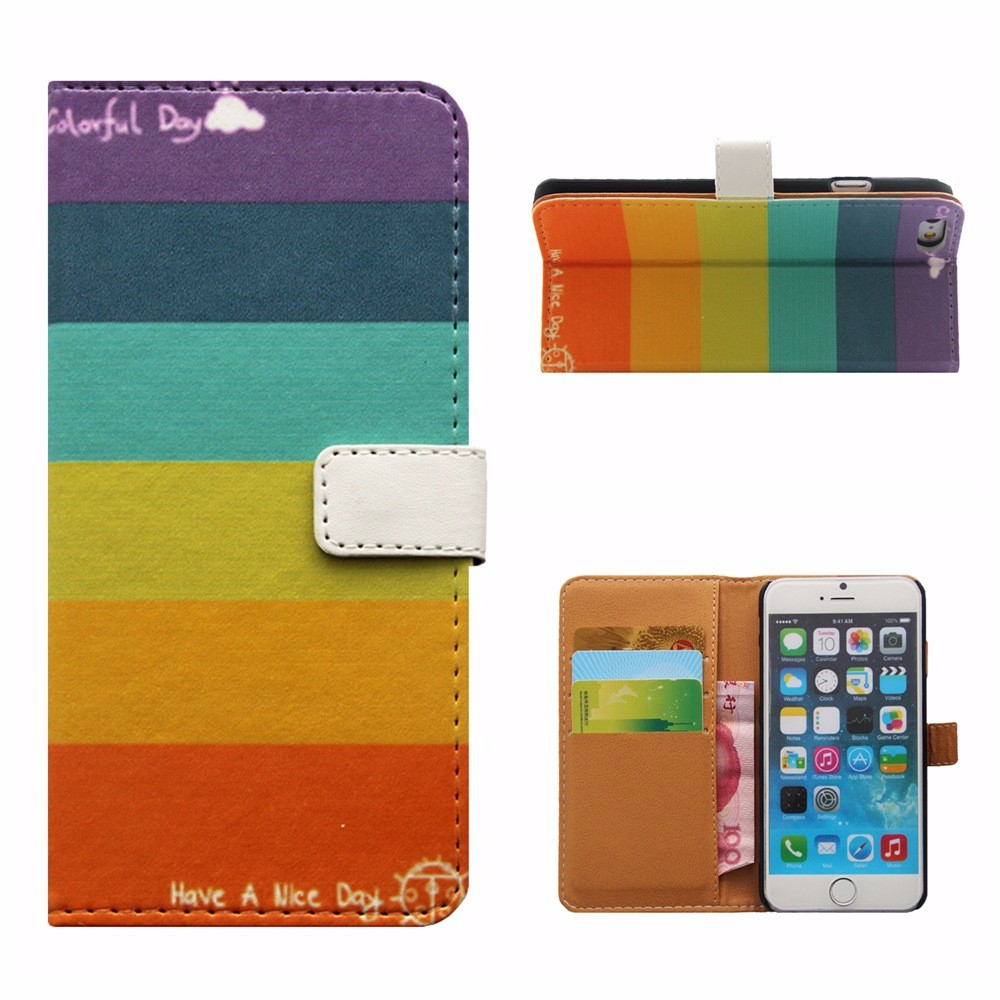 Leather PU cell phone case for iphone 6