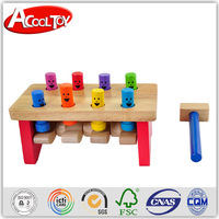 new product 2015 innovation fascinating wooden knock farm toy for kids