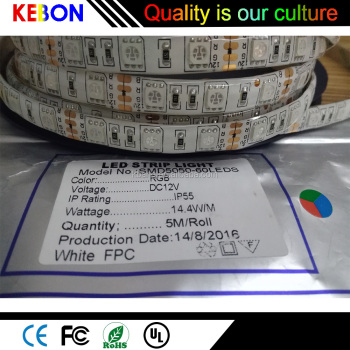 12V flexible SMD 5050 RGB waterproof outdoor led christmas strip light
