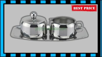 Stainless steel sugar milk pot
