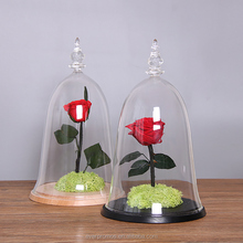 High Quality Multi Size Transparent Beauty and the Beast Rose Glass