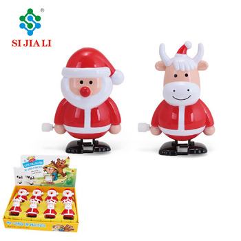 Christmas Gift For Children Walking Santa Claus Wind Up Toys
