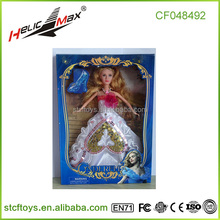 Plastic Baby Toy Doll Dress-Up Barbiee With Beautiful Make-Up Face Toys