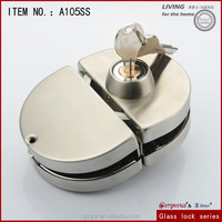 Gorgeous round glass door lock double door-two side with zinc alloy knob