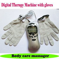 digital therapy tens machine electric full body massagers+gloves