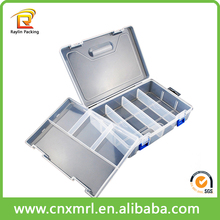 PVC plastic box with lock and key, plastic storage box with lock