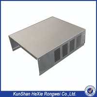 OEM custom sheet metal fabrication amplifier enclosure with punching holes