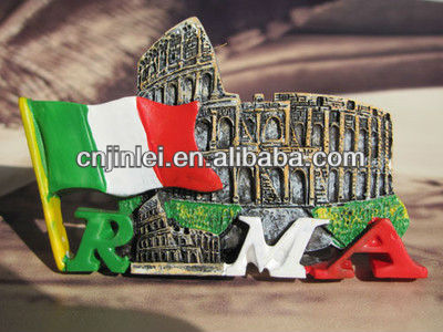 3D resin ROMA letter fridge magnet for souvenir