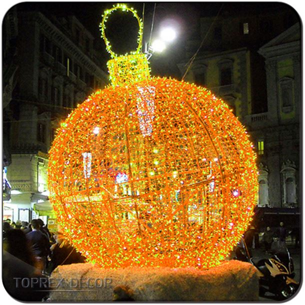 Holiday cane ball decoration lights for shopping mall/street/park