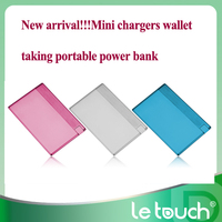 New arrival!!!Mini chargers wallet taking portable power bank,cardit card size enough put into wallet