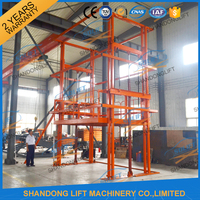 Outdoor fixed hydraulic goods elevator / Electric stationary lift elevator