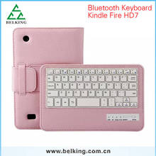 New Arrival Bluetooth Keyboard Split Leather Case With Stand Holder Magnet Buckle For ipad