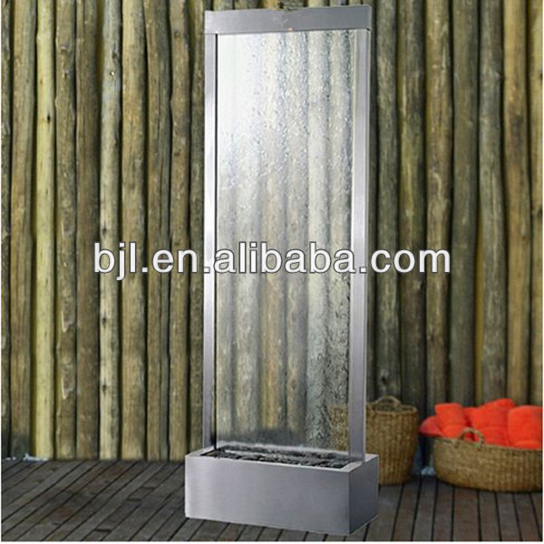 glass water fall panel wall room divider