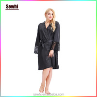 Wholesales Bathrobe Plain Dyed Silk Kimono Robes for Women