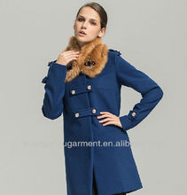 2013 Spring and Autumn new European and American women's solid color quality woolen jacket coat