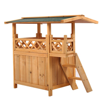 comfortable waterproof customized cheap wooden dog kennel with veranda
