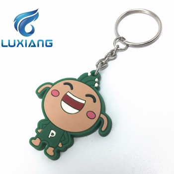 Personalized cool 3D plastic soft pvc keychain New design oem custom 3D Rubber Keychain silicone keychain