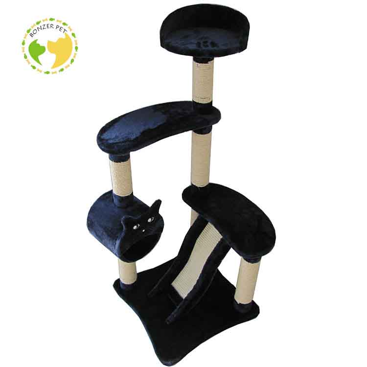 Pet Factory Wholesale 2018 Cat Tree House Furniture,Durable Design Cat Scratching Tree,Climbing Wooden Cat Tree