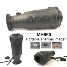 Portable monocular infrared thermal imaging camera for hunting