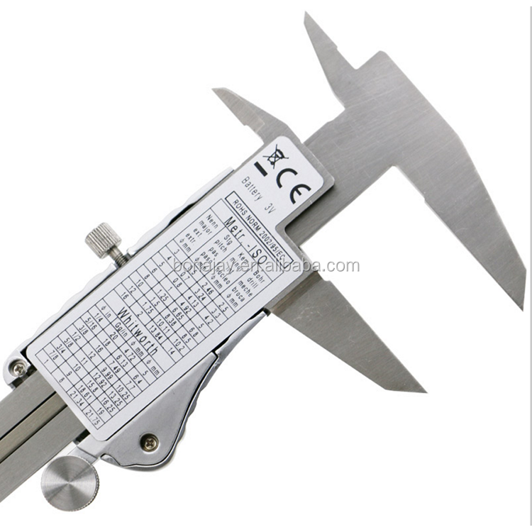 Industrial IP54 Digital Caliper Stainless Steel Electronic Vernier Calipers Metric / Inch Measuring Tools 0-150mm