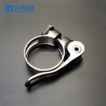 Quick release 34.9mm 31.8mm titanium seat clamp for mountain bike seatpost collar